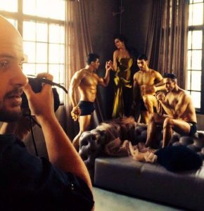Fashion photographer Shanghai. Backstage photo.